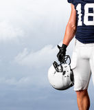 American Football Player Standing Strong Royalty Free Stock Photos