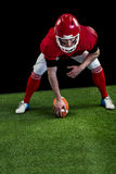 American football player starting football game Stock Images
