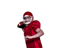 American football player throwing a ball Stock Images