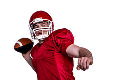 American football player throwing a ball Royalty Free Stock Image