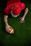 American football player trying to score Royalty Free Stock Photos