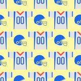 American football player uniform sport game seamless pattern vector cartoon style quarterback jumping success usa Royalty Free Stock Photography