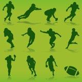 American football player vector. Set of american football player vector Stock Photos
