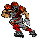American Football Player Vector Cartoon Royalty Free Stock Image