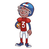 American football player. On a white background Royalty Free Stock Photos