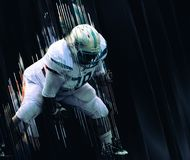 American football player women touchdown royalty free stock photos