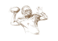 American football players. Hand drawing picture - american football players Stock Image