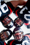 American football players. Studio isolated Royalty Free Stock Photos