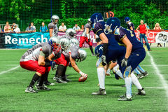 American football players Stock Images