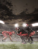 The american football players in action Royalty Free Stock Photography
