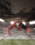The american football players in action Royalty Free Stock Image