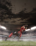 The american football players in action Royalty Free Stock Photo