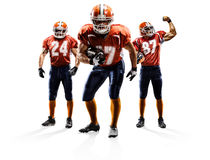 American football players in actionisolated on white stock images