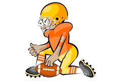 American Football Players. In cartoon style. Conceptual vector illustrations Stock Photo