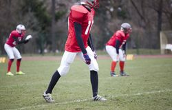 American football players royalty free stock image