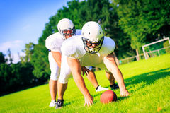 American Football Players Royalty Free Stock Photography