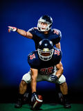 American football players men isolated Stock Images