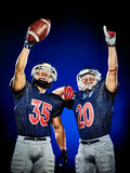 American football players men isolated stock image