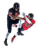 American football players men isolated Stock Photography