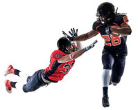 American football players men isolated Royalty Free Stock Images