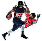 American football players men isolated Royalty Free Stock Photography
