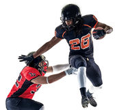 American football players men isolated Royalty Free Stock Photos