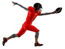 American football players teenager woman  girl shadows isolated Stock Photo