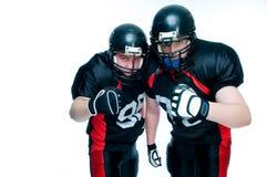 american football players two στοκ φωτογραφία με δικαίωμα ελεύθερης χρήσης