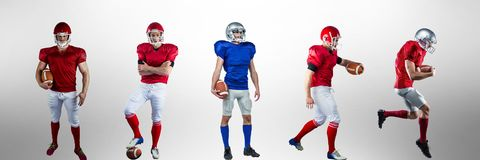 American football players wide Royalty Free Stock Image