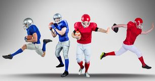American football players wide. Digital composite of american football players wide royalty free illustration