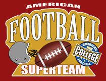 American football poster Stock Photography