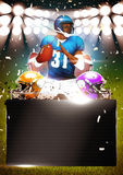 American football poster. Or flyer background with space vector illustration