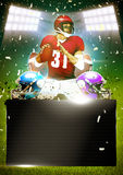 American football poster. Or flyer background with space royalty free illustration