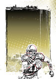 American football poster background Stock Images
