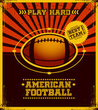 American football poster. Royalty Free Stock Photo