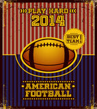 American football poster. Stock Photo