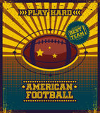 American football poster. Stock Image