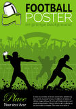 American Football Poster Royalty Free Stock Image