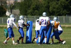 American Football Practice Stock Images