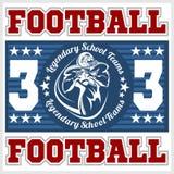 American football - Print for boy sportswear Stock Image