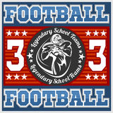 American football - Print for boy sportswear Stock Photo
