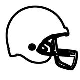 American football protective helmet black royalty free stock images
