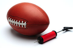 American football and pump Royalty Free Stock Photography