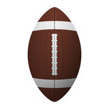 American football, ragby ball. Isolated on white background. Royalty Free Stock Photos