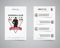 American football raiders team back and front Royalty Free Stock Photo