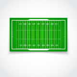 American football realistic, textured field. A realistic aerial view of official American football field Front view with reflection and marking, easily resizable Royalty Free Stock Image