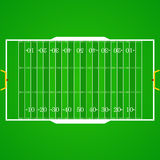 American football realistic, textured field. A realistic aerial view of an official American football field. Top view with marking, easily resizable. Template Royalty Free Stock Photography