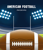American football realistic theme eps 10. Illustartion of american football realistic theme eps 10 Royalty Free Stock Photos