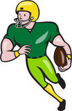 American Football Receiver Running  Cartoon Stock Images