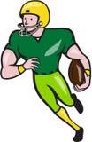 American Football Receiver Running  Cartoon Stock Images
